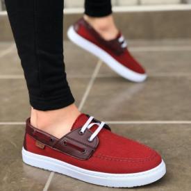 Pantofi sport barbati, rosii, model casual, ISAHAR