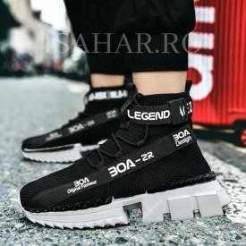 Pantofi sport negri, talpa usoara din spuma, foarte confortabili, ISAHAR