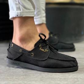 Pantofi sport barbati, negri, din material textil, ISAHAR