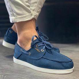 Pantofi sport barbati, albastri, din material textil, ISAHAR