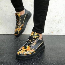 Pantofi sport negri, cu talpa usoara, ISAHAR