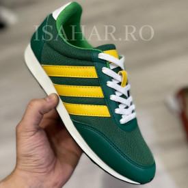 Pantofi sport verzi, casual, din material textil, ISAHAR