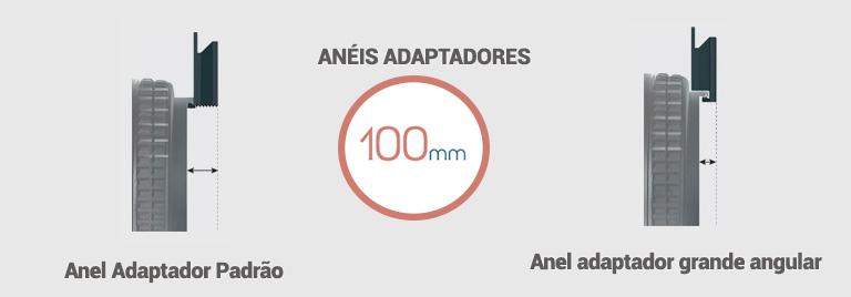 Aneis Adaptadores Padrão e Grande Angular para o sistema LEE 100mm