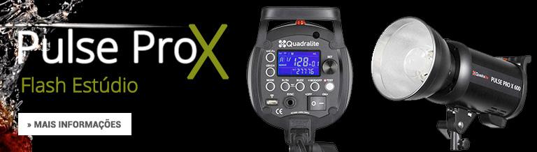 Flash de Estúdio Pulse Pro X mais informações