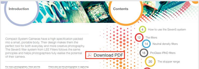 Download PDF guia detalhado do sistema de filtros Seven5