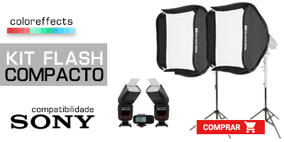 kit flash compacto Compatibilidade Sony