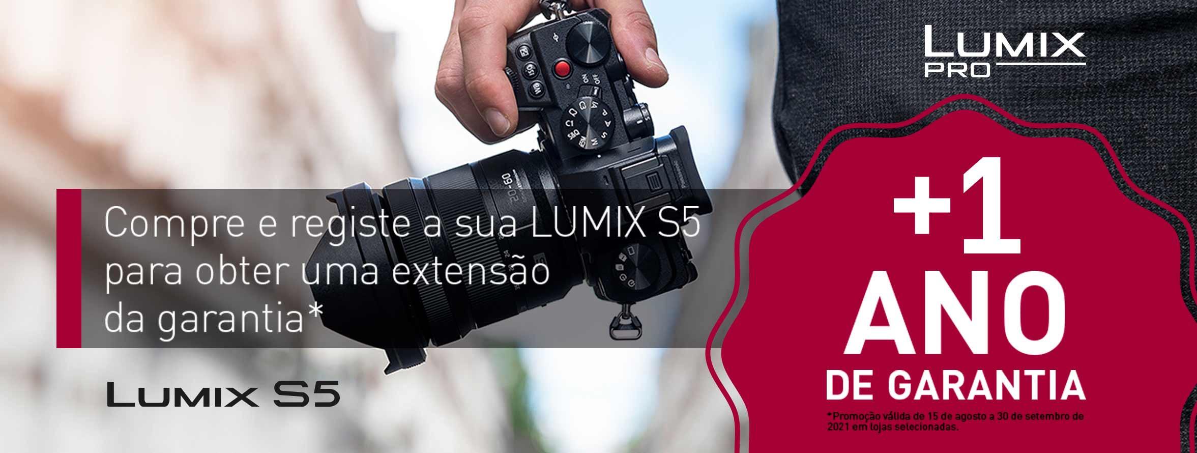 Lumix Promo S5 - 1 Ano Extra de Garantia Coloreffects