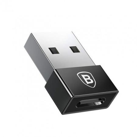 Baseus Adaptador USB Macho para Type-C Fêmea Exquisite lack (CATJQ-A01)