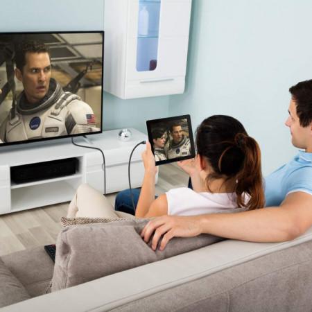 Baseus Cabo Conversor Tipo-C Macho p/ HDMI Macho 1.8mt Space Gray (CATSY-0G)