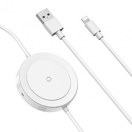 Baseus Carregador Wireless p/ Lightning 5W 1.2mt White (WXCA-02) 2