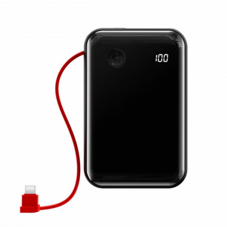 Baseus Power Bank Mini S c/ Cabo Lightning 10.000mAh Black (PPXF-B01)