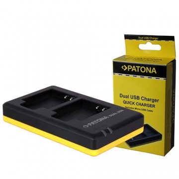 Patona Carregador Duplo USB p/ 2 Baterias Sony NP-BX1
