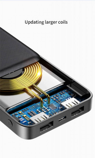 Baseus Power Bank Wireless Charger M36 10.000mAh Black (PPALL-M3601)