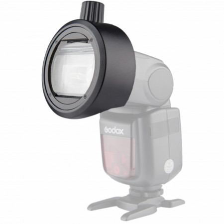 Godox Adaptador p/Acessórios Flash Cabeça Redonda (SR-1)