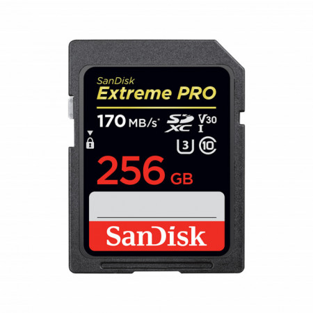 Sandisk Cartão Extreme Pro SDXC 256GB 170MB/s V30 UHS-I