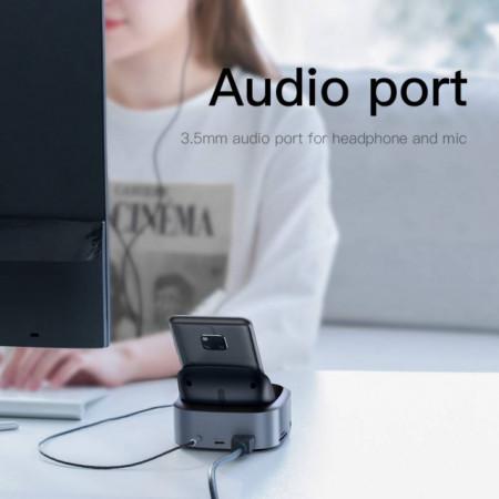 Baseus HUB Dock Tipo-C Inteligent Expanded Deep Grey (CAHUB-S0G)
