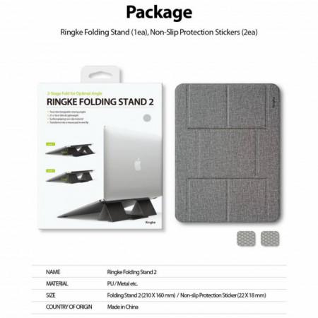 Ringke Suporte Dobrável 2 Silver (+ Adesivo de Proteção 2P)