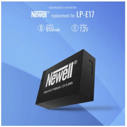 Newell Carregador Duplo de Baterias LP-E17 c/ 2x Baterias