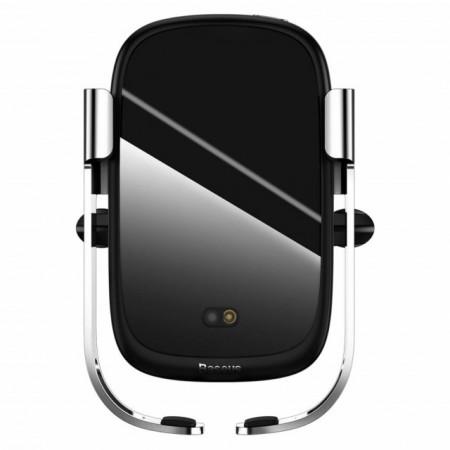 Baseus Carregador de Carro e Suporte s/ Fio 10W Silver (WXHW01-0S)