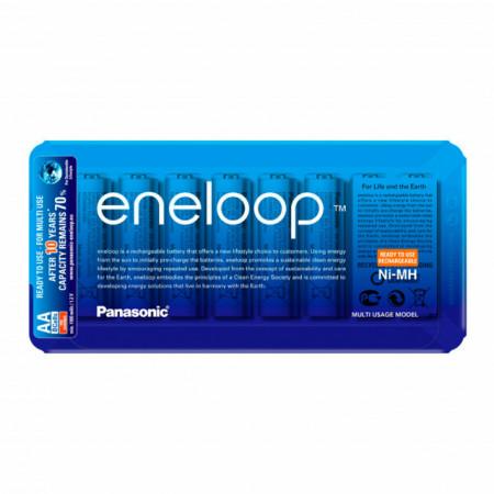 Panasonic Eneloop Pilhas Recarregáveis AA 2000mAh (Blister deslizaste c/ 8 Pilhas)