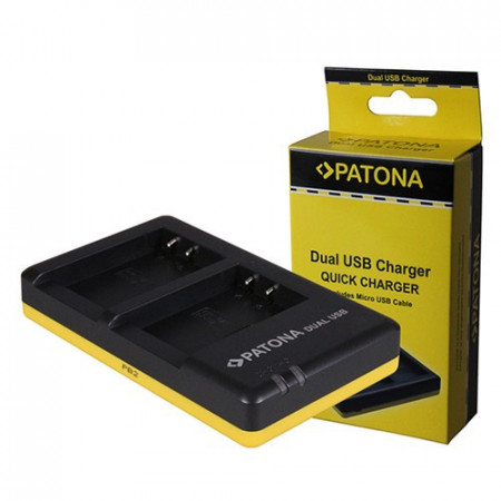 Patona Carregador Duplo USB p/ 2 Baterias Fuji NP-W126 (S)