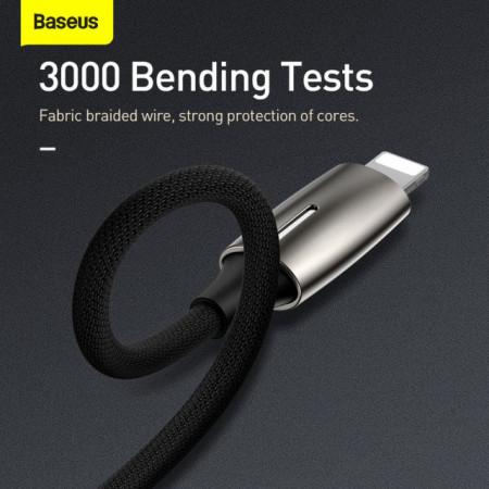 Baseus Adaptador 2em1 Lighting Macho p/ 2x Lighting Fêmea Tarnish (CALL55-0A)