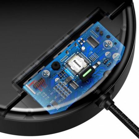 Baseus Station Carregador 2xUSB + USB-C c/ Cabo Dados Micro + Lightning + Tipo-C Black (CAHUB-FX01)
