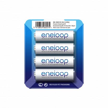 Panasonic Eneloop 4x Pilhas Recarregáveis AA 2000mAh (BK-3MCCE)