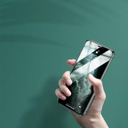 Baseus T-Glass Curvo p/ iPhone 11 Pro Max Eye Protect 0.3mm Black 2Pcs SGAPIPH65S-IA01