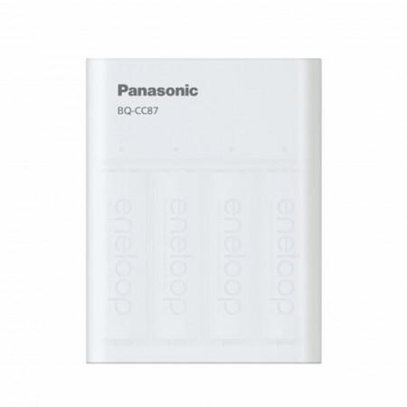 Panasonic Eneloop Carregador BQ-CC87 - Power Bank - c/ 4 Pilhas AA 2000mAh