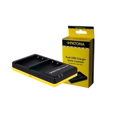 Patona Carregador Duplo USB p/ 2 Baterias Sony NP-F e NP-FM