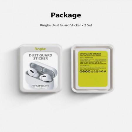 Ringke Película p/ AirPods Pro Dust Guard Silver (Pack de 2)