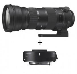 Sigma 150-600mm f/5-6.3 SPORT DG OS HSM + TC-1401 p/ Nikon