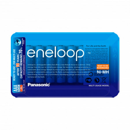 Panasonic Eneloop Pilhas Recarregáveis AAA 800mAh (Blister deslizaste c/ 8 Pilhas)