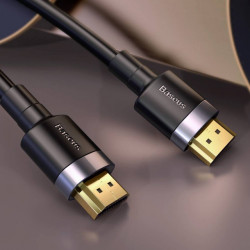 Baseus Cabo Cafule 4K HDMI Macho-Macho 1mt Black (CADKLF-E01)