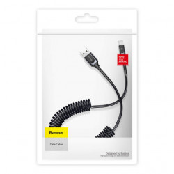 Baseus Cabo Lightning Double Spring Data Cable 2A 1.2m Deep Grey (CALSH-0G)