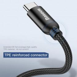 Baseus Cabo Lightning U-shaped portable data Cable 2.4A 23cm Black (CALUTC-01)