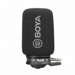 Boya Microfone Shotgun Compacto p/ Smartphones BY-A7H