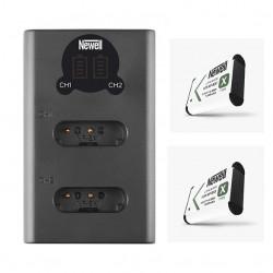 Newell Carregador Duplo de Baterias NP-BX1 c/ 2x Baterias
