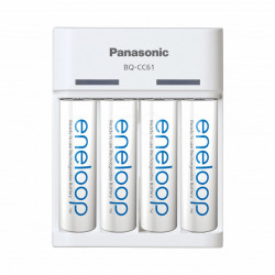 Panasonic Eneloop Carregador BQ-CC61 USB + 4 x Pilhas Eneloop R6 / AA 2000mAh