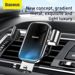 Baseus Suporte p/ Telefone Gravitacional Vidrado Black (SUYL-LG01)