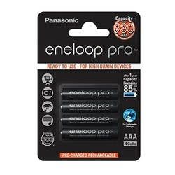 Panasonic Eneloop PRO Pilhas Recarregáveis AAA 930mAh (Blister c/ 4 Pilhas)