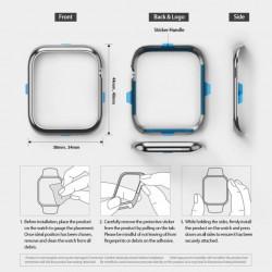 Ringke Proteção Apple Watch Frame Bezel Styling 38mm - AW3-38-09 (Aço Inoxidável), Silver