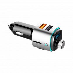 Voice Kraft Transmissor FM Bluetooth + Carregador USB QC3.0 VK42