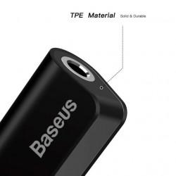 Baseus Adaptador Lighting Macho p/ 3.5mm c/ Lighting Fêmea Black (CALL32-01)