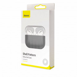 Baseus AirPods Pro Case Shell pattern Silica Gel Gray (WIAPPOD-BK0G)
