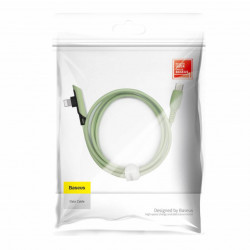 Baseus Cabo Tipo-C p/ Angular Lightning Colorful Elbow 8W 1,2mt Green (CATLDC-A06)