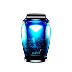 Baseus Fragrance Car Zeolite (Glass bottle + Clip+fragrances(Sea spice+Angel spice) Blue (AMROU-03)