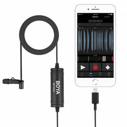 Boya Microfone de Lapela Digital Lavalier p/ iPhone, iPad, iPod Touch (BY-DM1)
