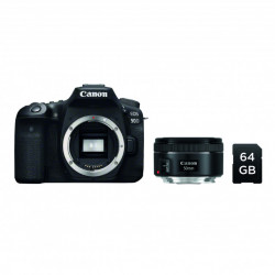 Canon Kit EOS 90D + 50mm f/1.8 + SD 64GB